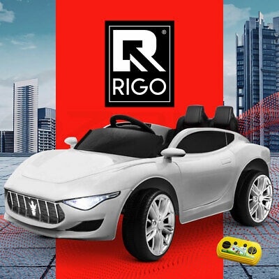 Electric Kid Ride On Car Maserati Inspired Battery Style Toy Children Remote 12V