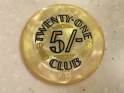 Twenty One Club London 5 Shillings