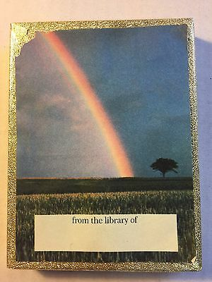 Vintage Antioch Bookplate box of Scenic Rainbow Country paper Library book Tags
