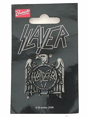 Slayer Classic Eagle Metal Badge Pentagram 2006 Pin Button New Official 2006 NWT