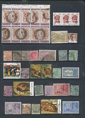 India nice selection good range of stamps (includes block of 10) [637] REDUCED