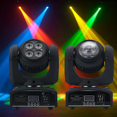 80W 4LED Double Stage Light RGBW Spot Sides Moving Head DMX512 DJ Party Lighting
