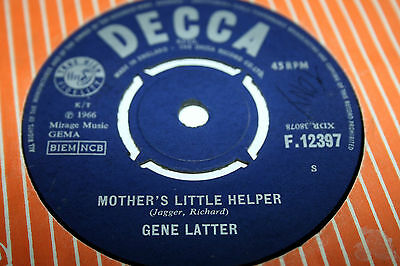 GENE LATTER mother's little helper. uk 45 Decca F12397. rare mod/psych. Rubble.