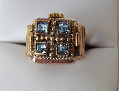 "Vintage Ring Watch. "" Titus"" Swiss 15 Jewel Movement,small Size H.  Overhaled."