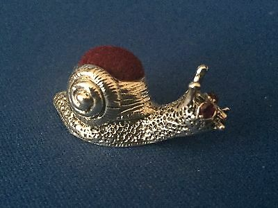 Snail Pin Cushion Victorian Style Small Sterling Silver  .925