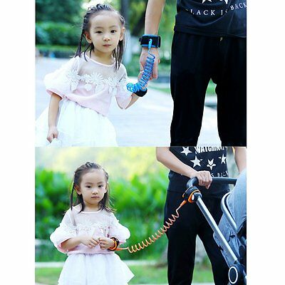 Baby Safety Walking Harness Anti lost Strap Wrist Leash Kids Traction Rope RZ