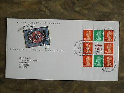 GB 1991 Agatha Christie book of stamps First Day Cover