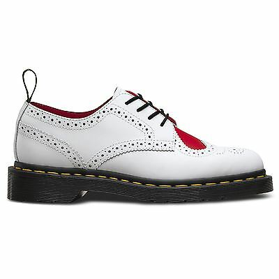 Dr.Martens Joyce Heart Venice Smooth White Red Womens Shoes