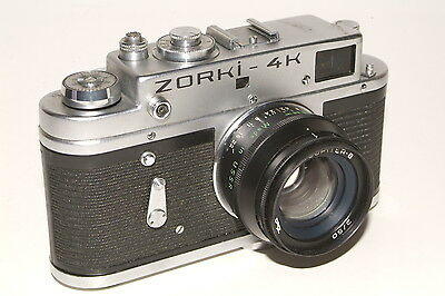 Zorki 4K camera with f2.0 50mm Jupiter-8 lens