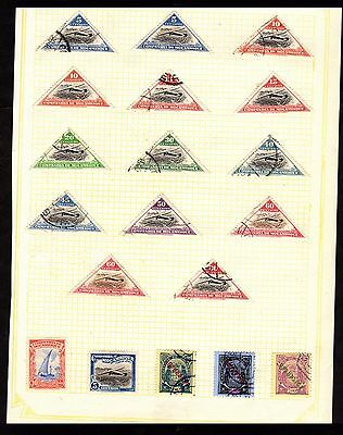Stamps ~  MOZAMBIQUE Inc. AEROPLANES & OVERPRINTS ~ On Album Page UNSORTED