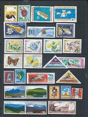 Mongolia colourful selection of stamps,some postally used  [6142]