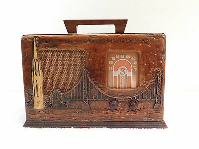 Vintage Old San Francisco Golden Gate Bridge Antique Worlds Fair Rca Radio !
