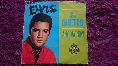 "Elvis ‎– In The Ghetto ,  Vinyl, 7"", 45 RPM, Single , 1969 , Spain , 3-10407"