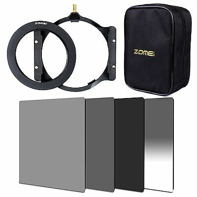 ZOMEI 100mm ND2+ND4+ND8+GND Gradual ND4+77mm ring+holder+Case For Cokin Z LEE