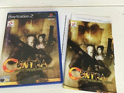 * Playstation 2 * CONTRA Shattered Soldier * BOX AND MANUAL ONLY * NO GAME * PS2
