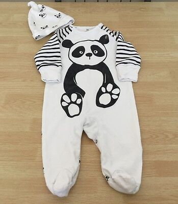 boys next sleepsuit 3-6 months with hat