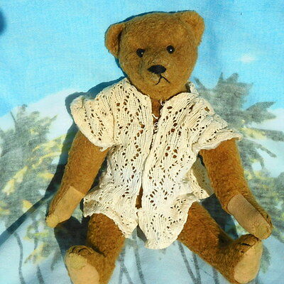 Rare very old earliest wool Bing antique teddy bear old toy collectable