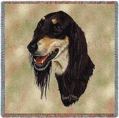 Lap Square Blanket - Saluki by Robert May 1191