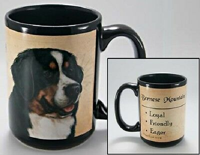 15 oz. Faithful Friends Mug - Bernese Mountain Dog MFF020