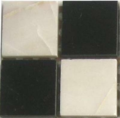 Marble Mosaic Stone Floor Wall Tiles Black And White Mix SAMPLE (MT0060)