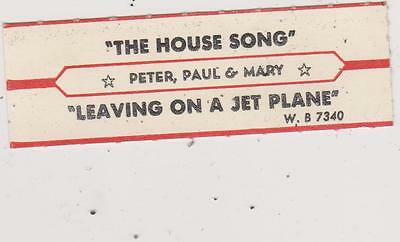Peter,paul And Mary Jukebox Title Strip