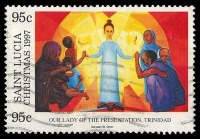 "ST. LUCIA 1082 (SG1177) - Christmas ""Our Lady of the Presentation"" (pa27572)"