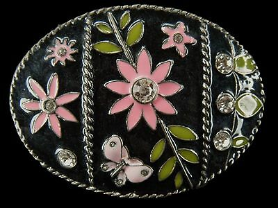 Rhinestone Flowers Hippie Fashion Style Belt Buckle Boucle De Ceintures