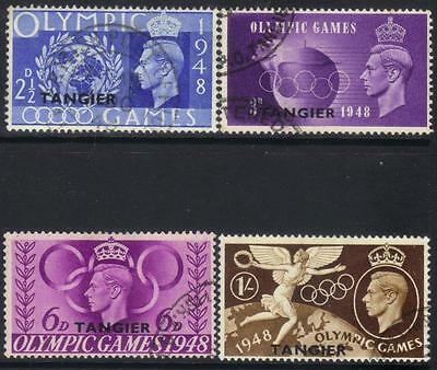 Tangier 1948 Olympic Games Used Set Of 4 Cat £8+