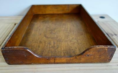 Lovely Antique Vintage Wooden Oak Letter Tray Desk Tidy Office Organiser Treen