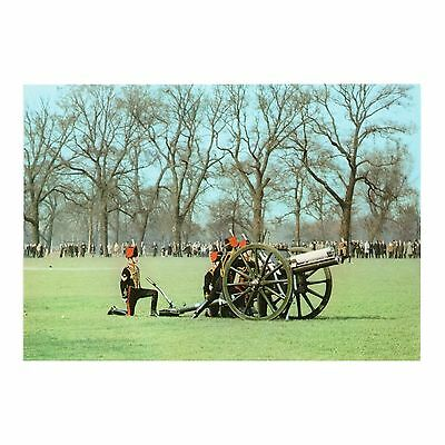 The King'S Troop About To Fire A Salute From Hyde Park - Arthur Dixon Postcard