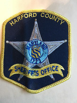 Harford County  Maryland Sheriff  Shoulder  Patch  Old Used