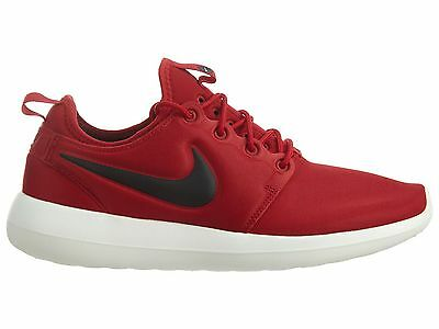 63bba6d9b53 Nike Roshe Two Mens 844656-600 Gym Red Black Textile Running Shoes Size 10.5