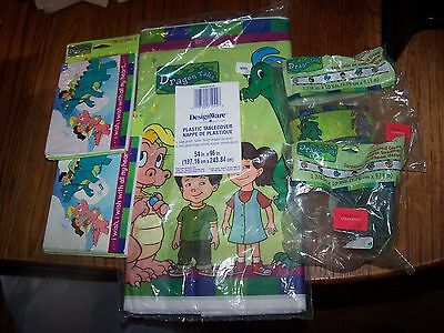 Dragon Tales Party Supplies - Tablecloth, Streamers (2) and Invitations (2)