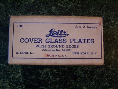 Leitz Cover Glass Plates w/ Ground Edges NOT COMPLETE