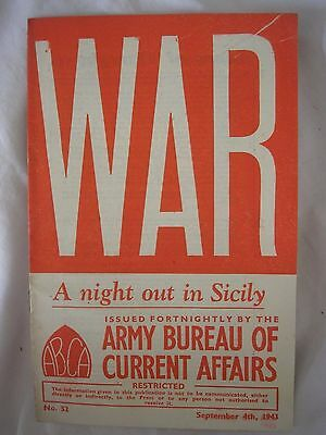 Italy Sicily Campaign Military History 1943 British Army Booklet