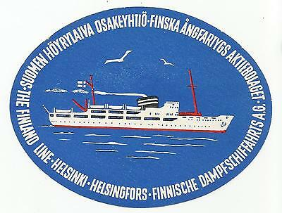 FINLAND LINE MARITIME luggage label