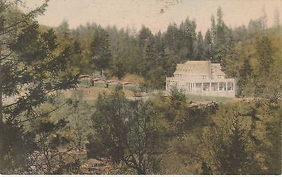 c.1927 Albertype Handcolored view of The New Hotel & Bungalows, Adams Springs CA