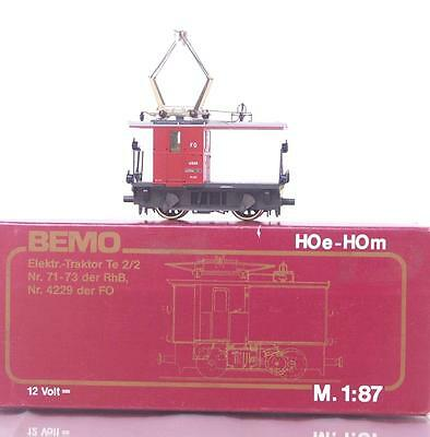 BEMO 1271 206 HOm - SWISS FO Te 2/2 RANGIERTRAKTOR ELECTRIC LOCOMOTIVE 4926