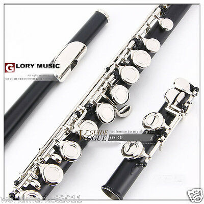 #9 New Black C-Note 16-Holes High-Grade Nickel-Plated Musical Instruments Flute