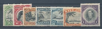 Niue 1944/6 Pictorials set to 1s, 7 values mm