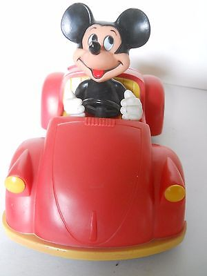 Vintage Mickey Mouse In Car W/radio - Walt Disney Concept 2000 Made In Hong Kong