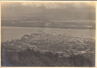 Unique photo, View of Georgetown from Penang Hill, Malaya. 1937. 2 Large Photo's