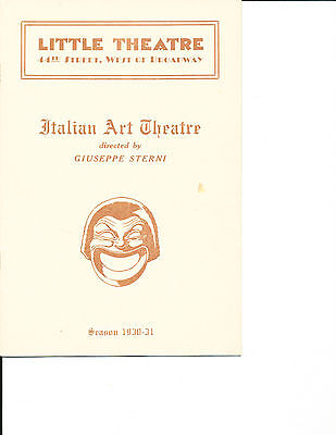 """Opening Night Theatre Program """"In the Depths of the Heart"""" 1930 NYC RARE"""