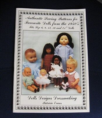 Authentic Sewing Patterns for Favourite Dolls from the 1950s by Patricia Evans