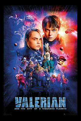 Valerian One Sheet Cast Official Poster New - Maxi Size 36 x 24 Inch