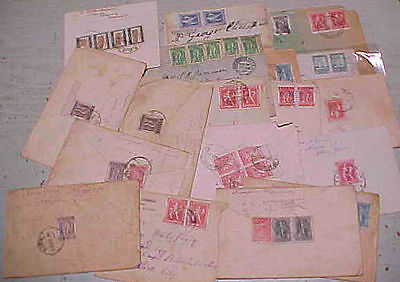 GREECE  20 SMALL COVERS 1920's MANY TO USA INCLUDES REGISTERED