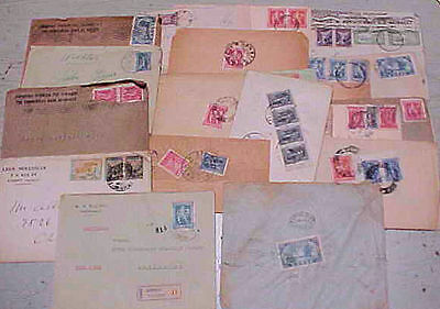 GREECE  19 SMALL COVERS 1920's MANY TO USA