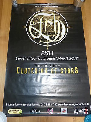FISH - MARILLION - Affiche de concert / Tour poster CUTHING AT STARS !!!