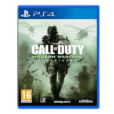 Call Of Duty Modern Warfare Remastered PS4 Game - Brand New!