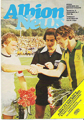 WEST BROMWICH ALBION v CARL ZEISS JENA UEFA CUP   1979/80